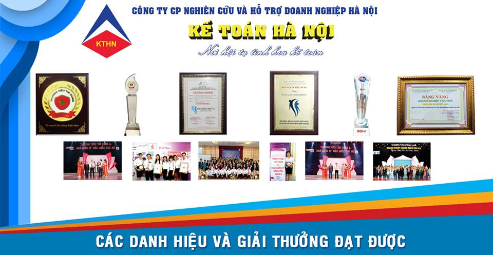 Hình ảnh: Các danh hiệu mà Kế Toán Hà Nội đã đạt được