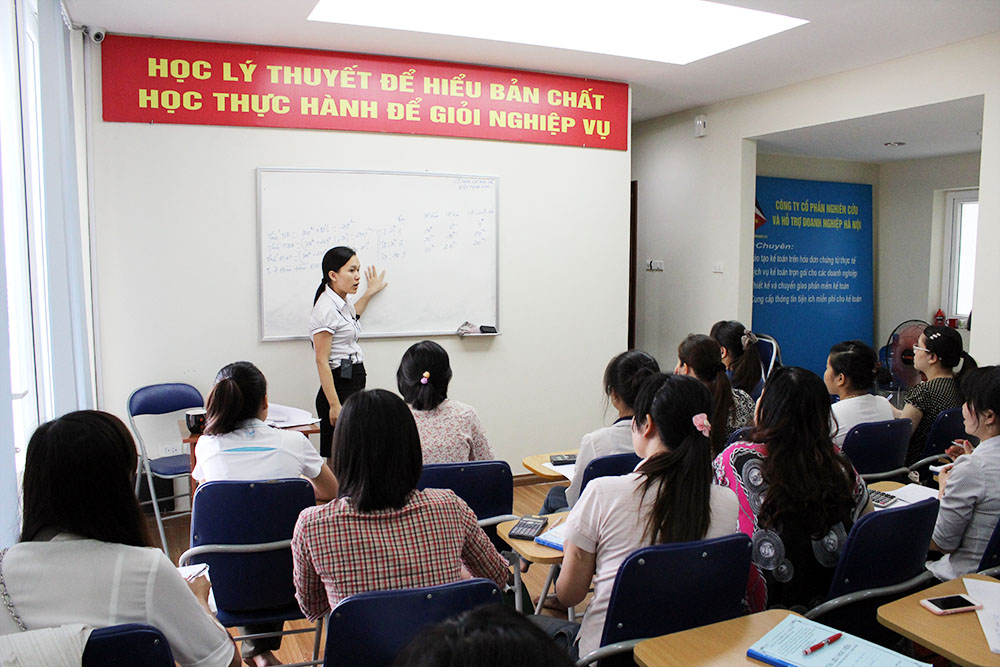 Hình ảnh: Lớp học tại Trung tâm đào tạo kế toán tại Bắc Giang