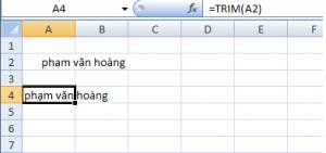 ví dụ hàm Trim