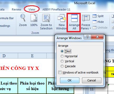 Hướng dẫn cách mở nhiều bảng tính khác nhau trong Excel