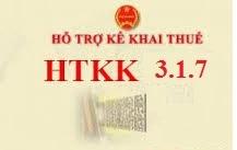 Phần mềm Hỗ trợ kê khai HTKK 3.1.7