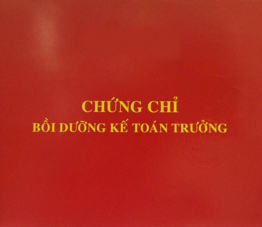 Lớp học chứng chỉ kế toán trưởng tại Quang Trung Quận Hà Đông